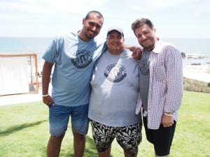 Syed with Chris and Karim