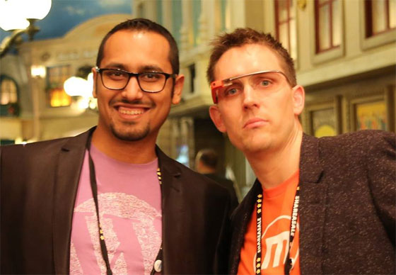 Syed Balkhi with David Henzel at Affiliate Summit