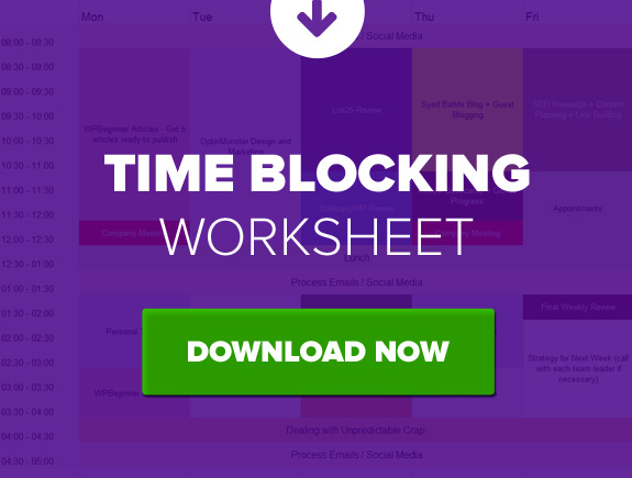 Download Time Blocking Worksheet Free