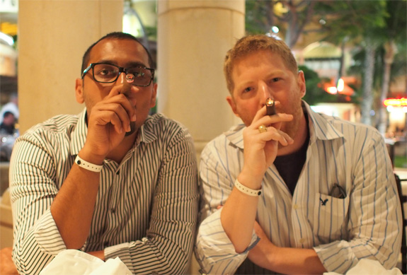 Cigars get Business Done