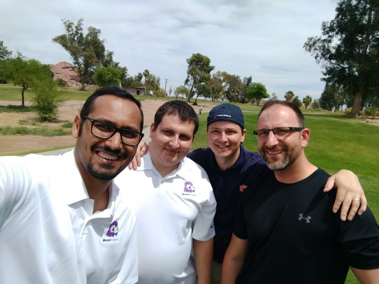 Me with Christoff, Krogsgard, and JR at Pressnomics