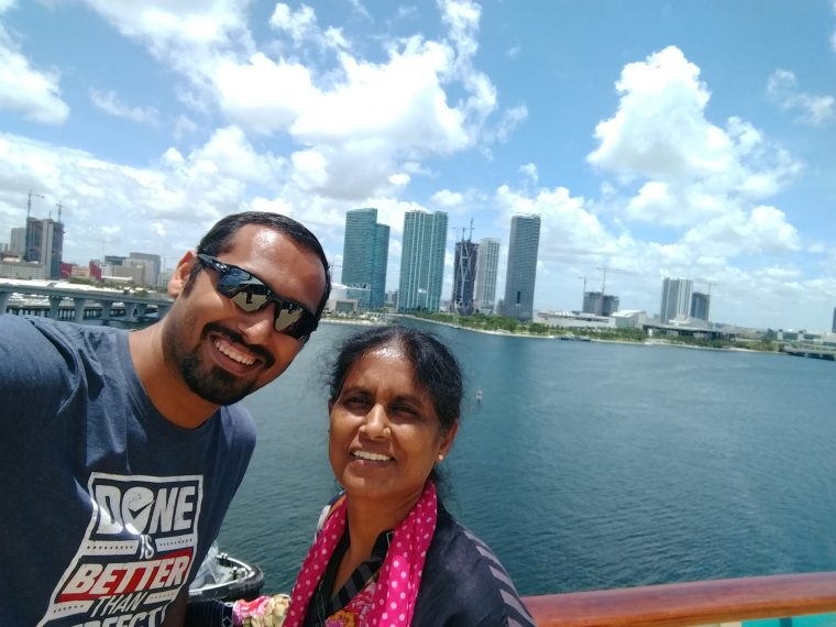 Mom and I on the cruise