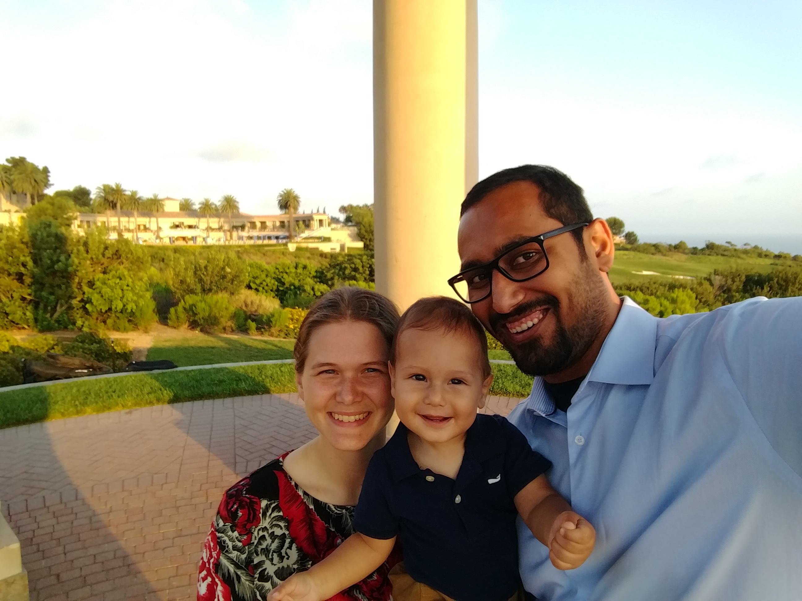 Family Photo at the Pelican Hill, New Port Beach