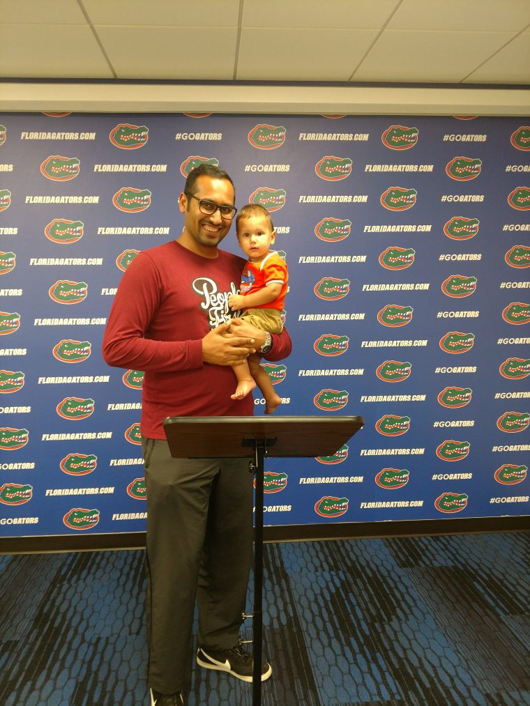 At the UF Press Room