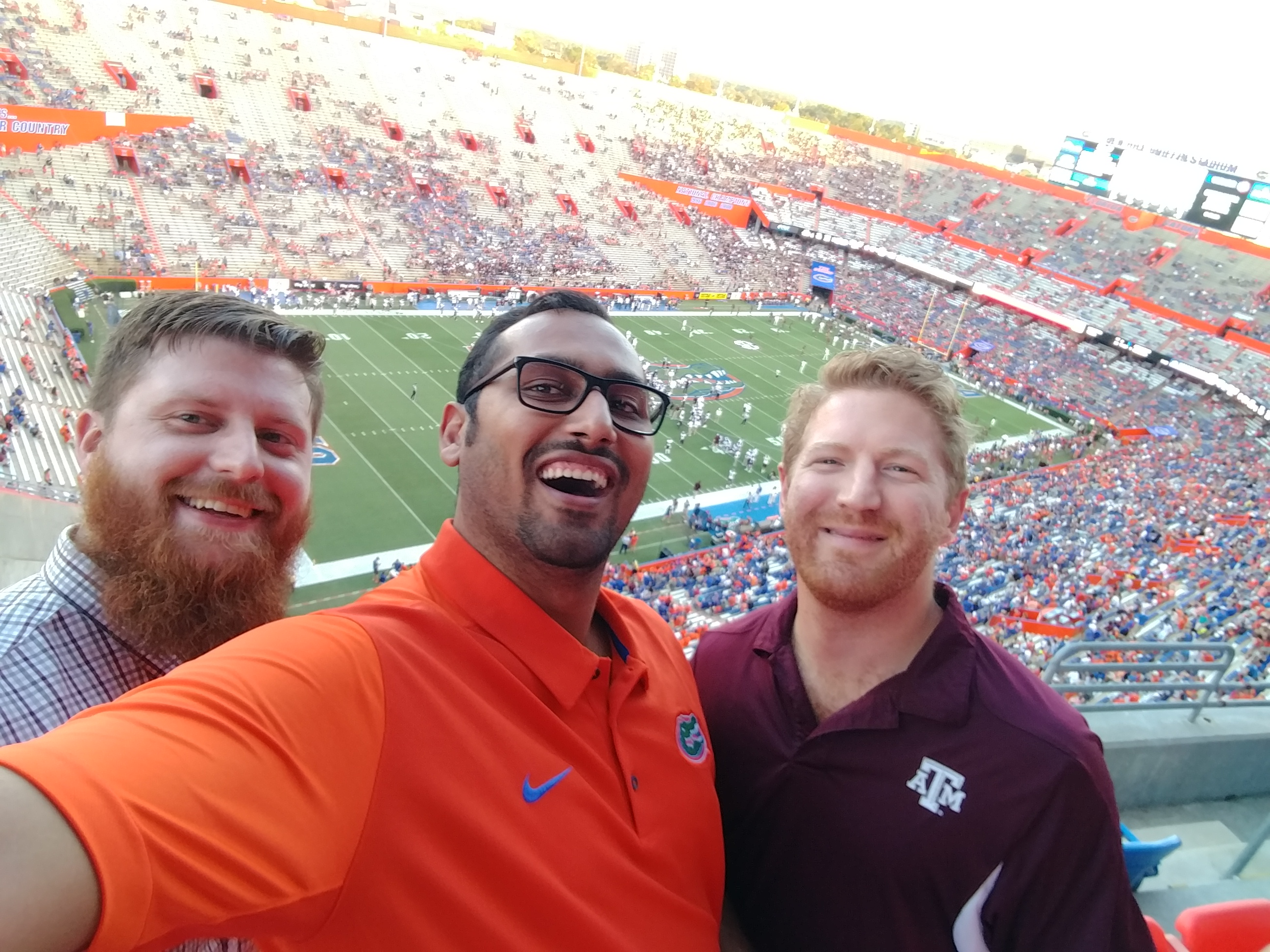 At the Gator Game with Jared, Aaron, and friends