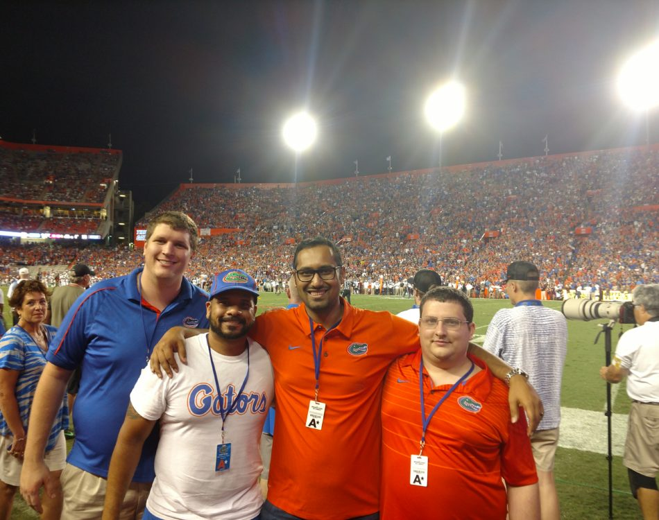 Gator game VIP - sideline view