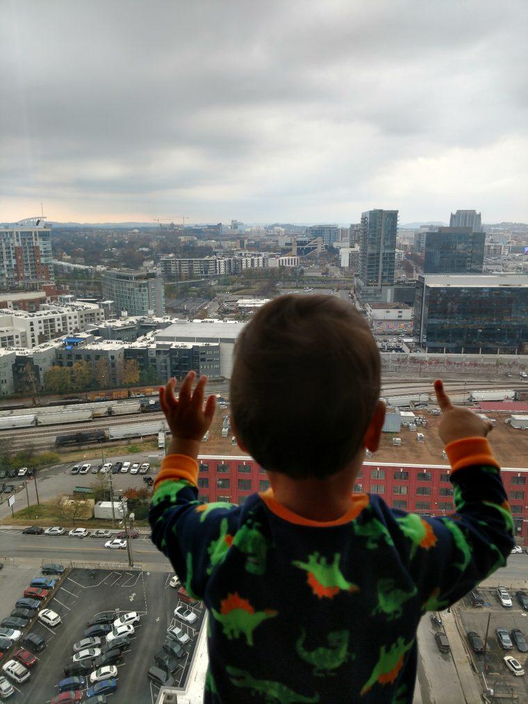 Solly enjoying the Nashville view at WordCamp US