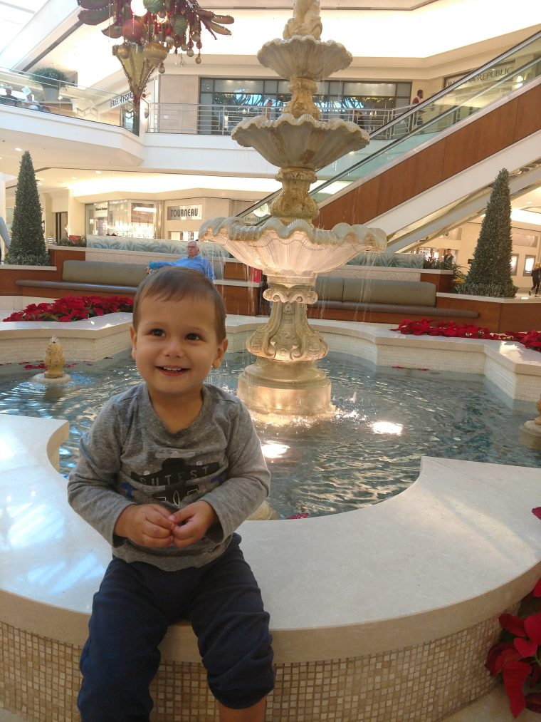Solly at the Fountain