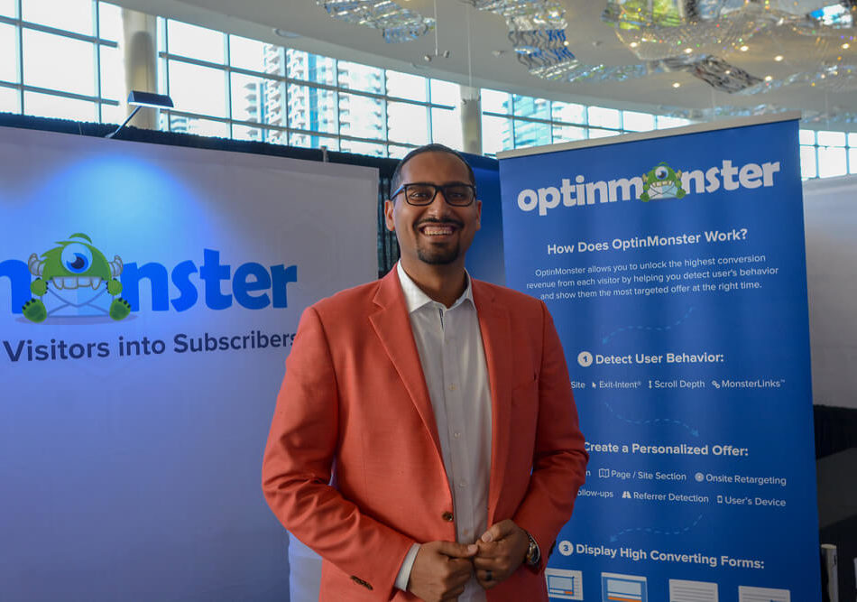 OptinMonster Booth at Traffic & Conversion Summit