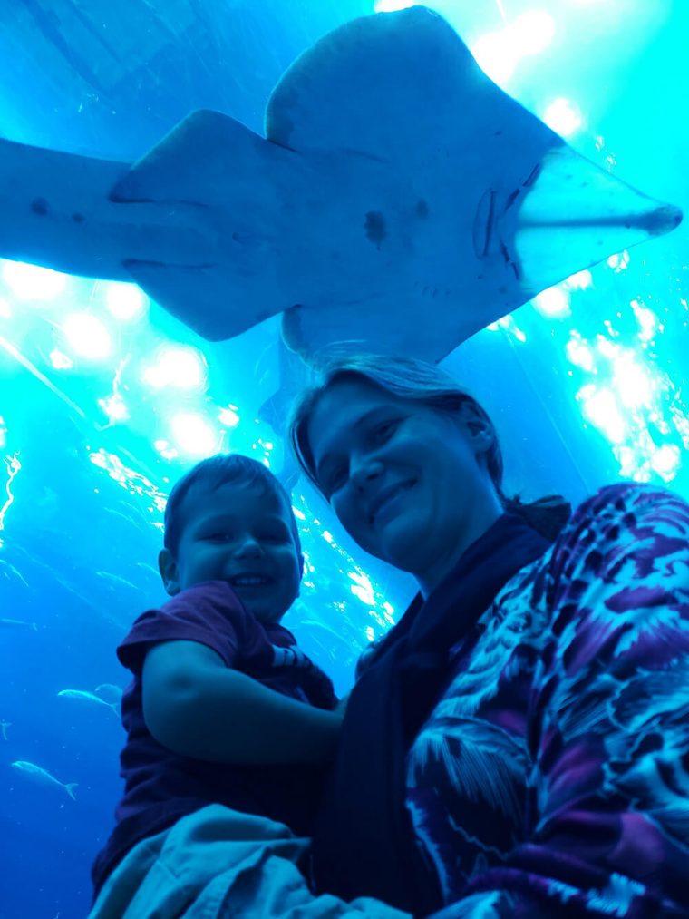 At the Aquarium in Dubai Mall