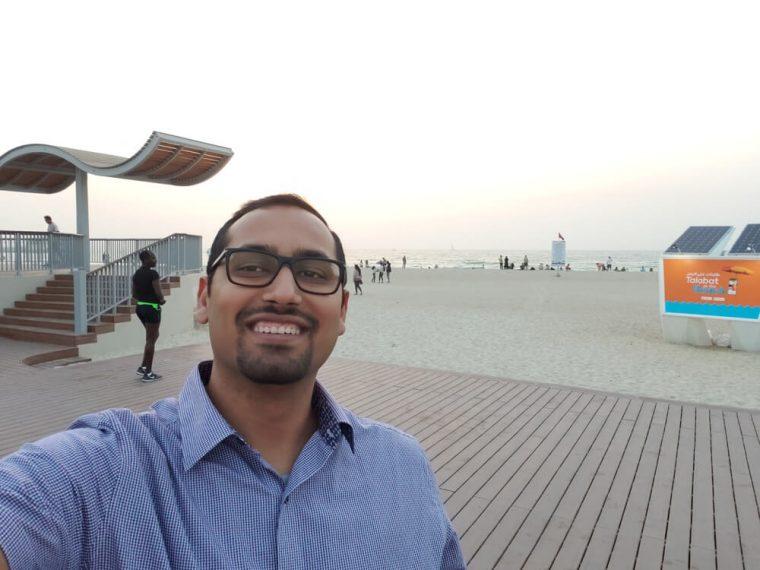 Decided to take a Selfie at Dubai Beach