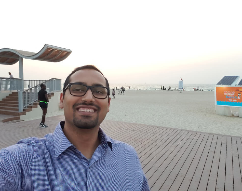 Decided to take a Selfie at Dubai Beach