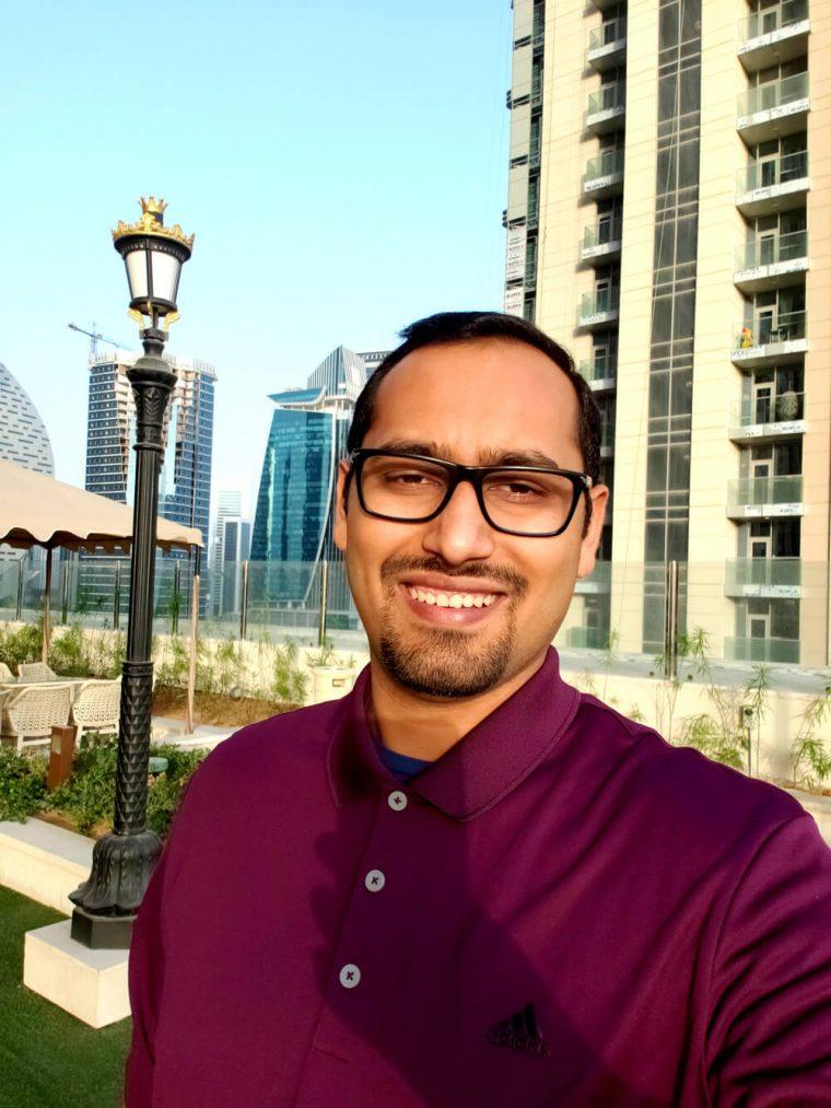 Roof Selfie at Dubai St Regis (Beautiful Hotel)