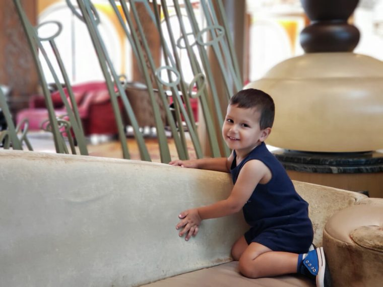 Solomon Climbing Everything on the Cruise