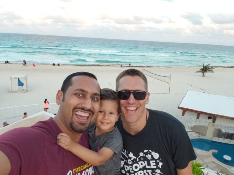 Selfie with Solly and Henzel at the Company Retreat