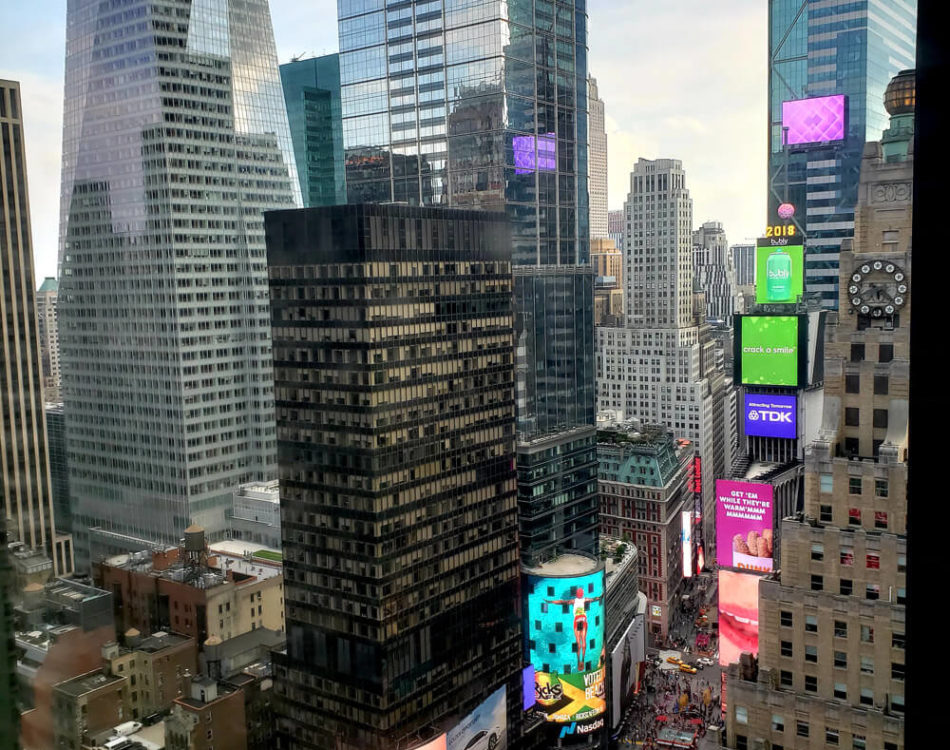 View from my room in Time Square (this never gets old)
