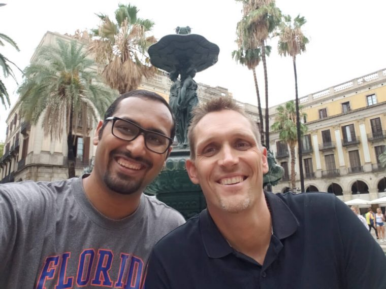 Selfie with David in Barcelona