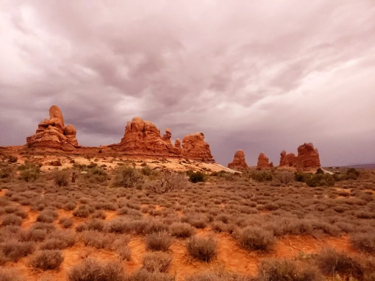 Arches National Park ... terrible weather