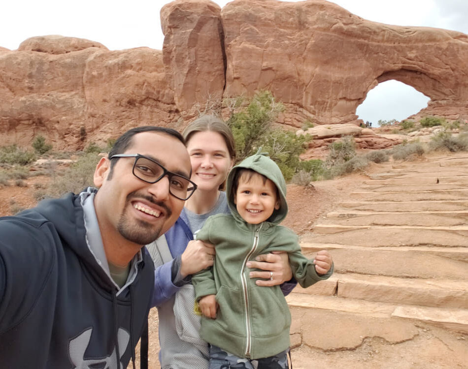 Family Selfie at Arches National Park