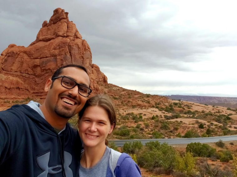 Selfie with Amanda at Arches National Park