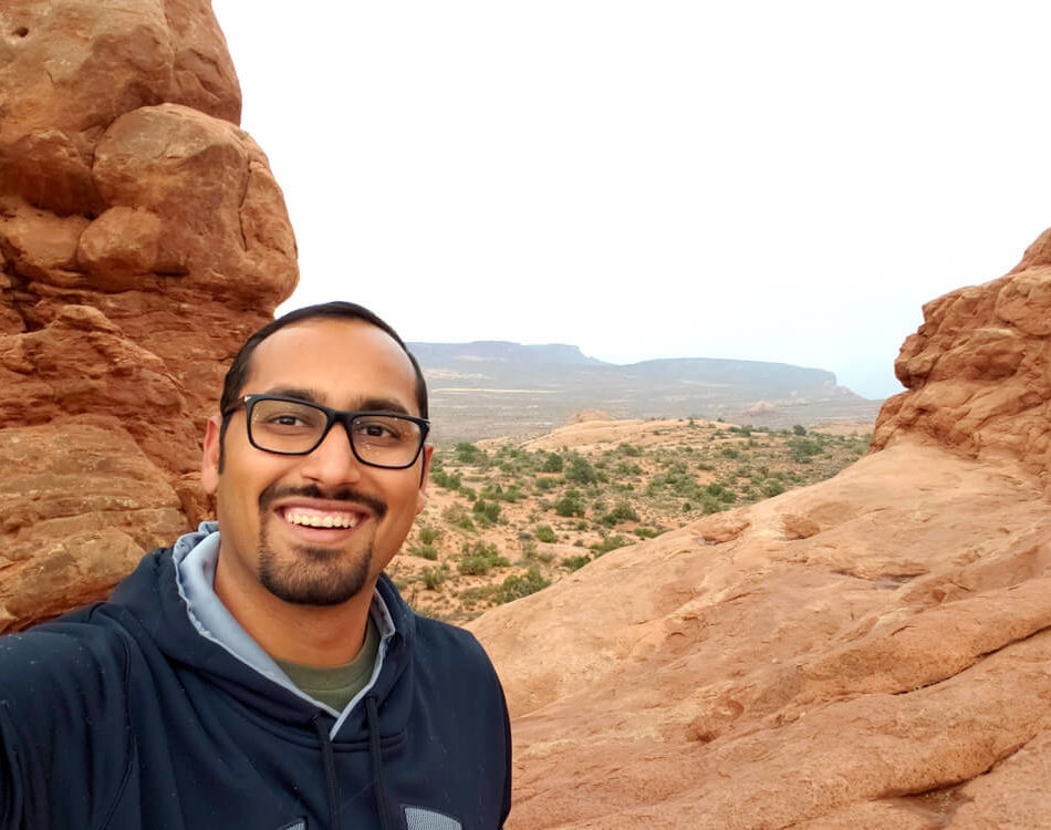 Selfie at Arches National Park