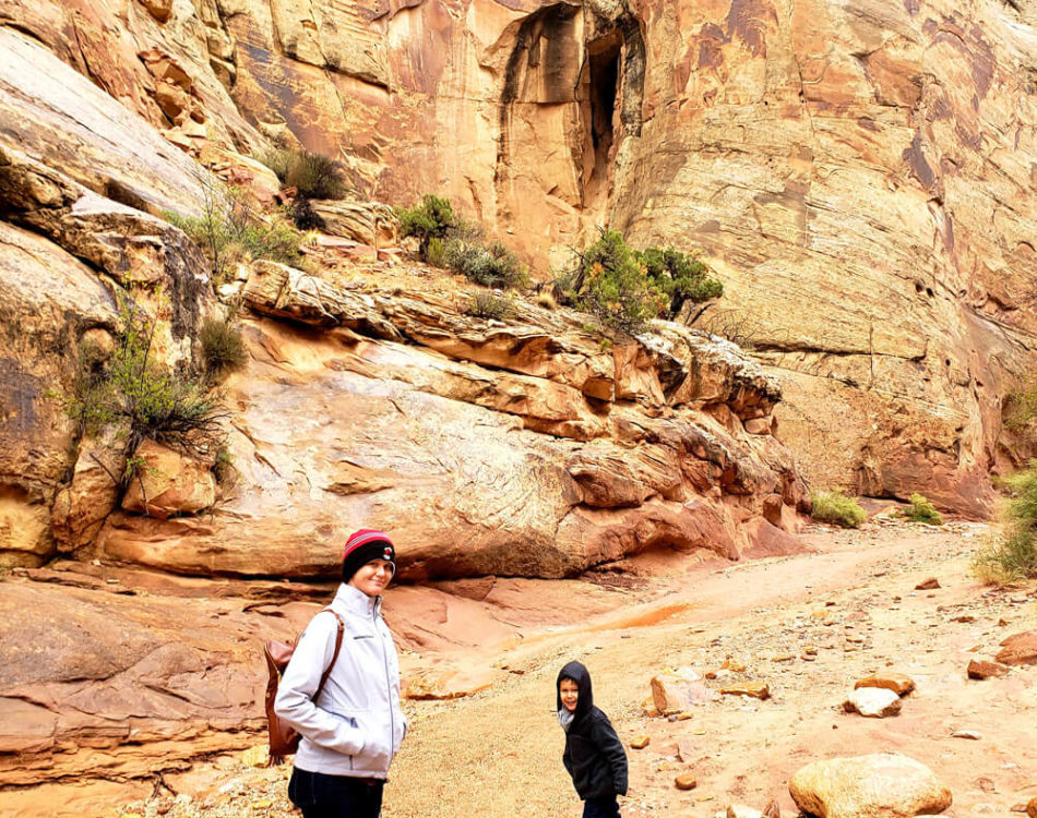 Solomon excited about the Hike at Capitol Reef National Park