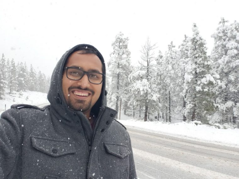 It snowed on our drive to Bryce Canyon