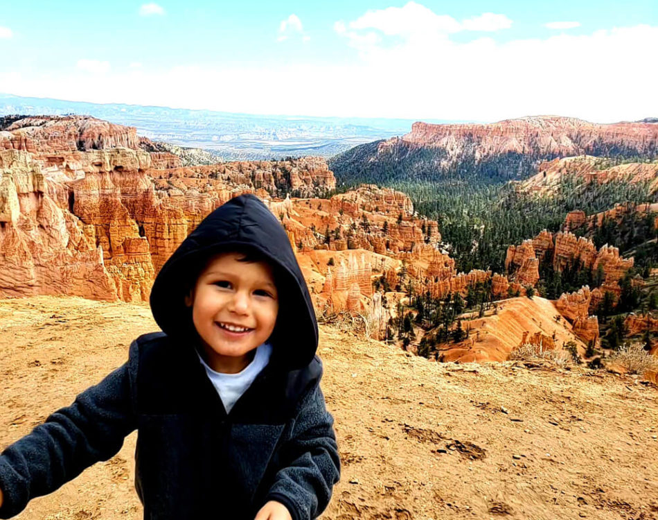 Solomon being a dare devil at Bryce Canyon National Park