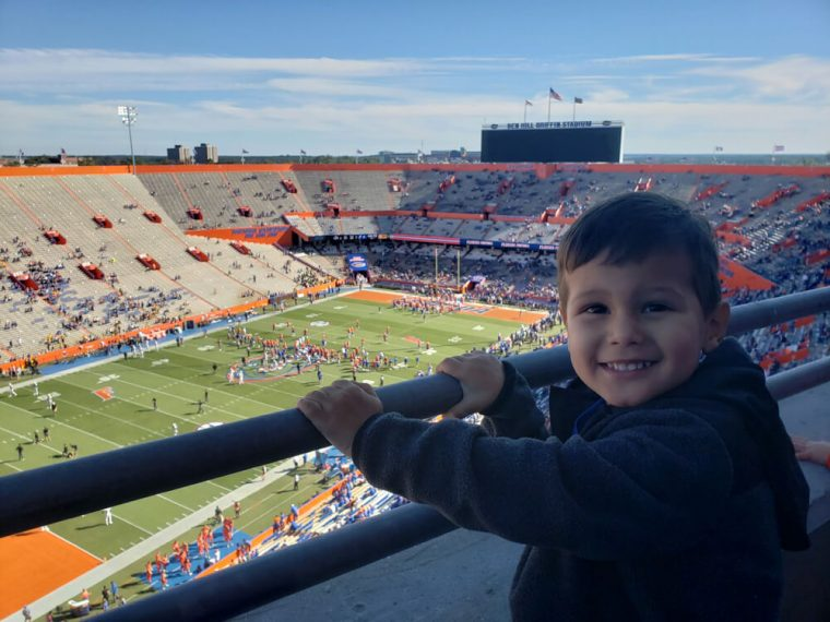 Solomon's first real Gator Game from Champions Club