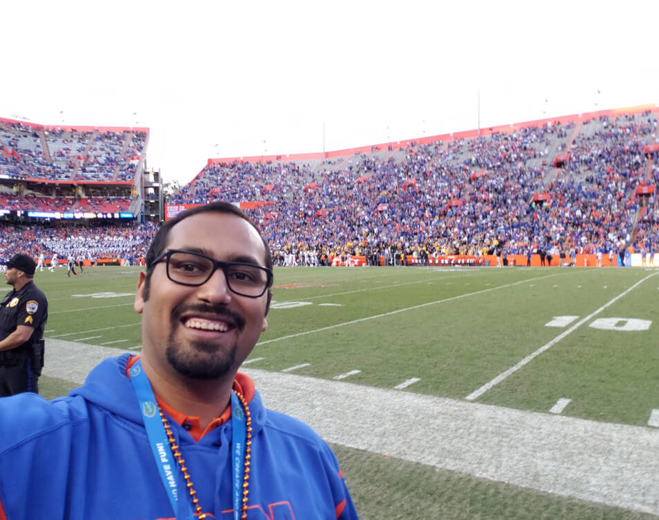 At the Gator Game on the Field