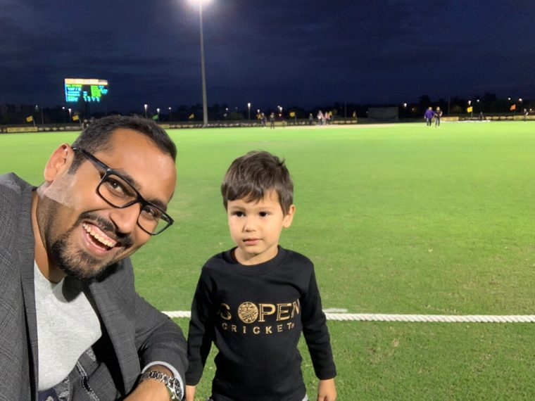 Solomon and I at the US Open T20 Cricket Tournament
