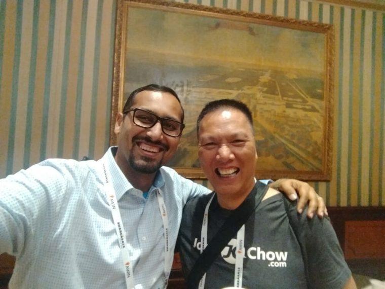 With my buddy John Chow