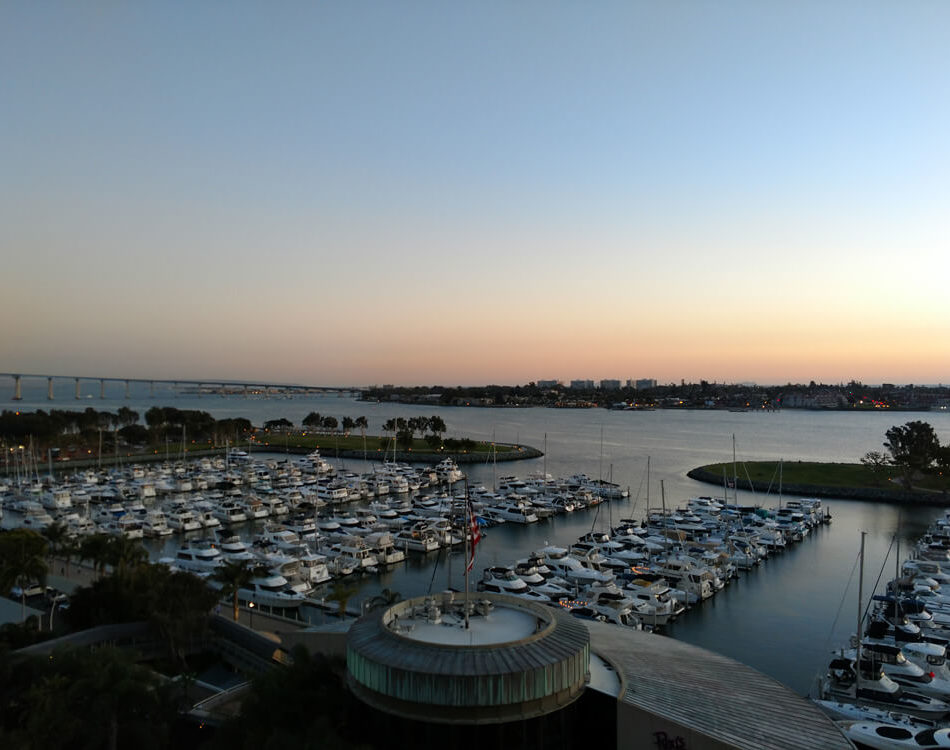 View from my room in San Diego