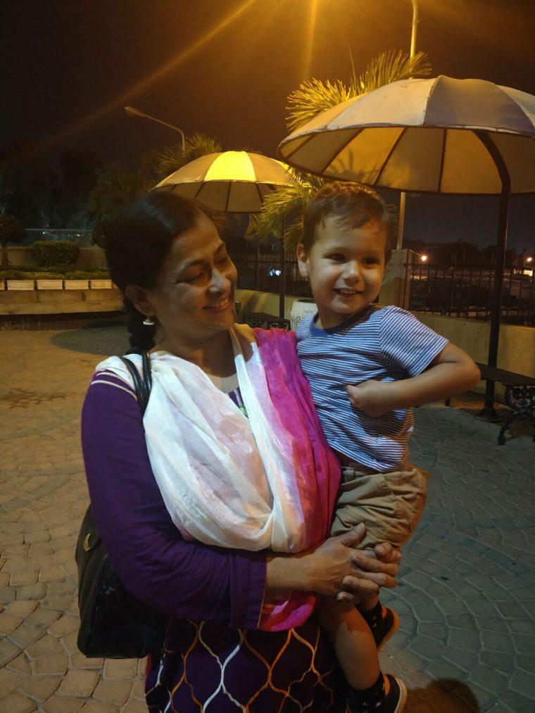 Solomon with my aunt
