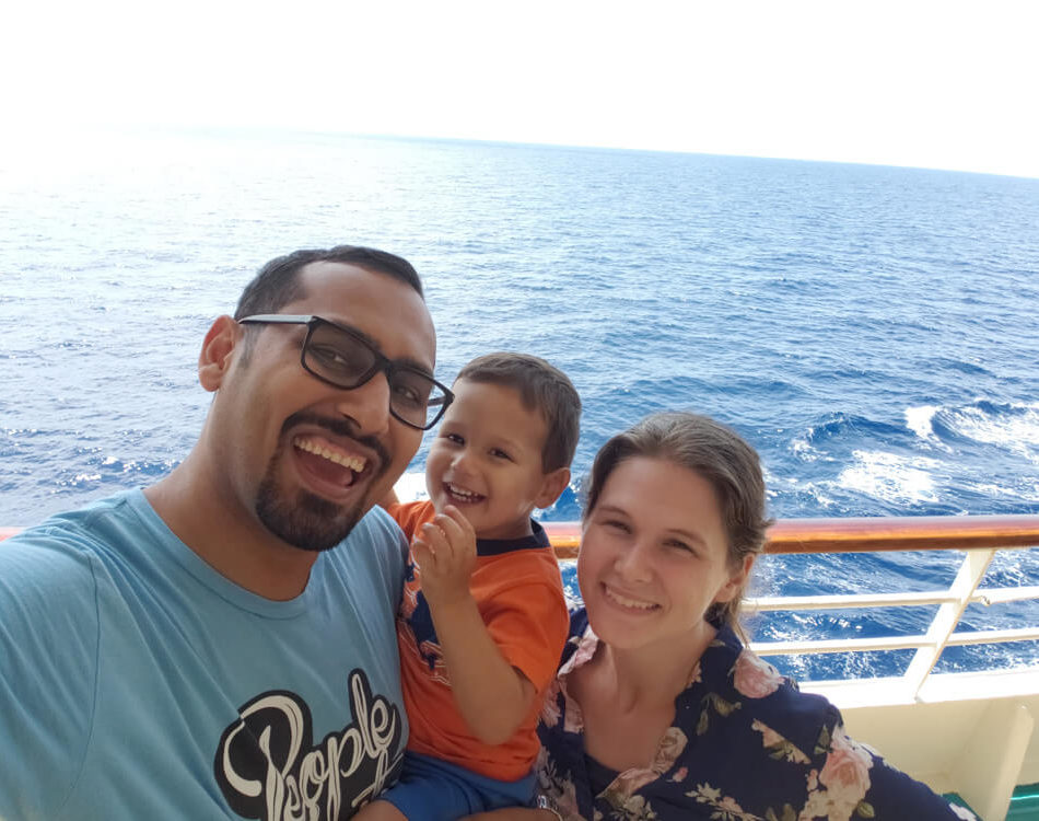 Family Shot from the Side of the Boat