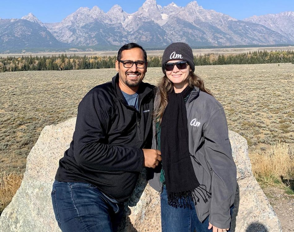 Amanda and me at one of the scenic spots in Grand Teton