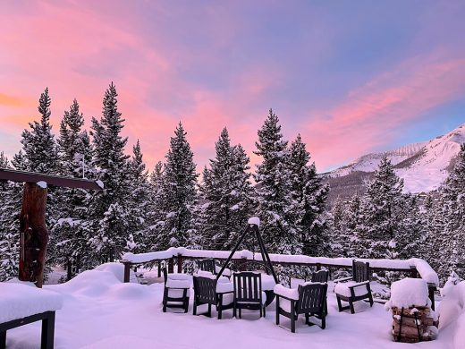 Sunrise from our deck - Big Sky Montana