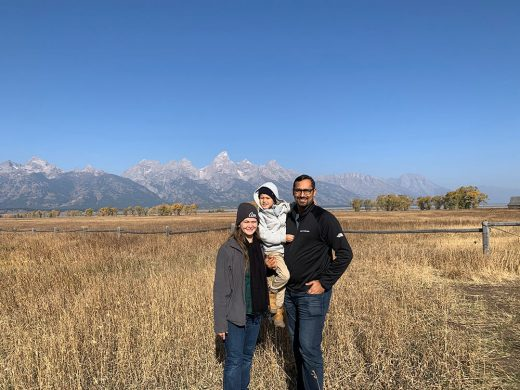 Family Photo at Grand Teton