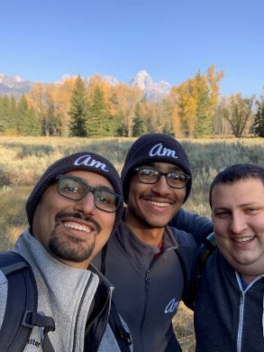 Hiking with Zain and Chris