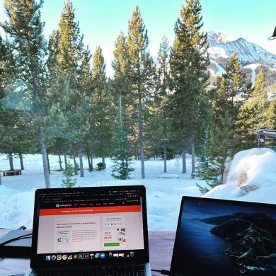My View from the Desk - Big Sky Montana