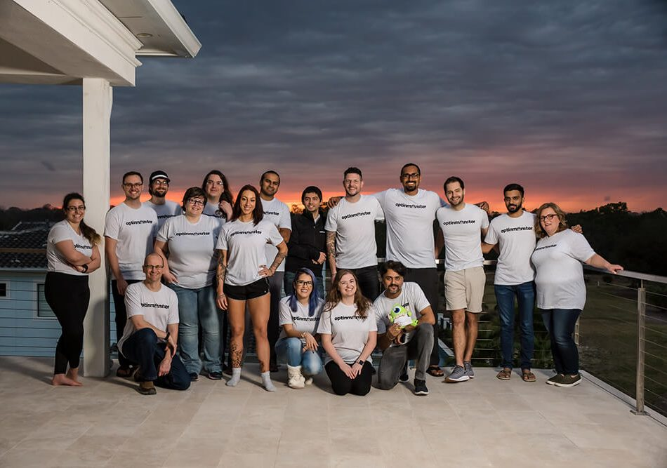 OM Team photo sunset