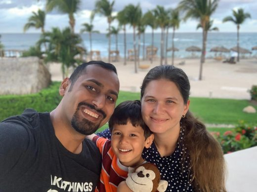 Punta Mita Family Photo with beach background