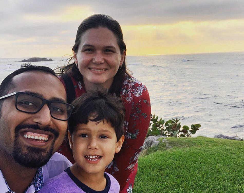 Punta Mita Family Photo before Sunset