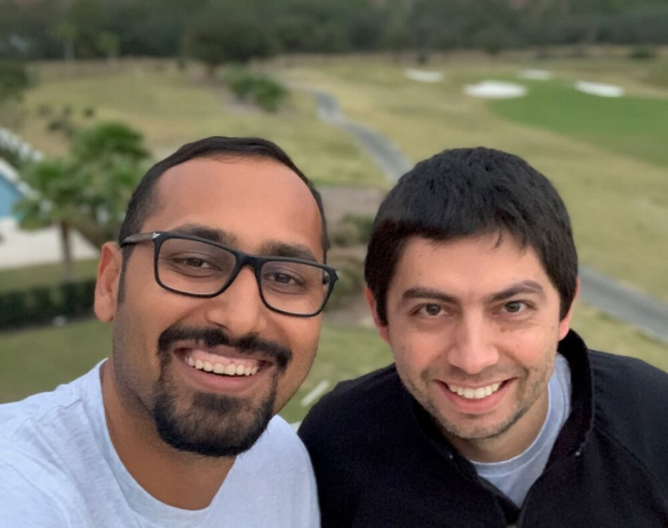Selfie with Brojas at OptinMonster retreat precovid