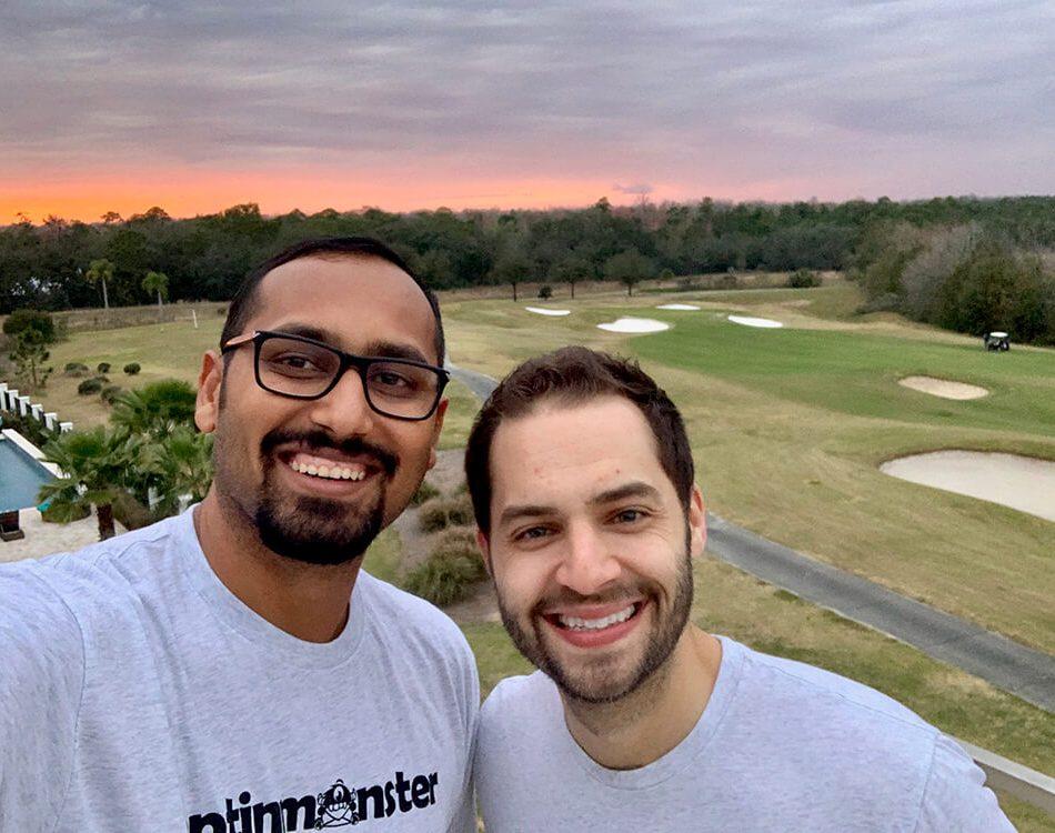 Selfie with Thomas at OptinMonster retreat precovid