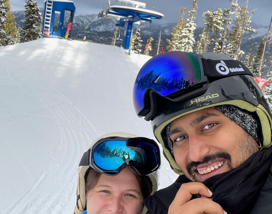Skiing with Amanda