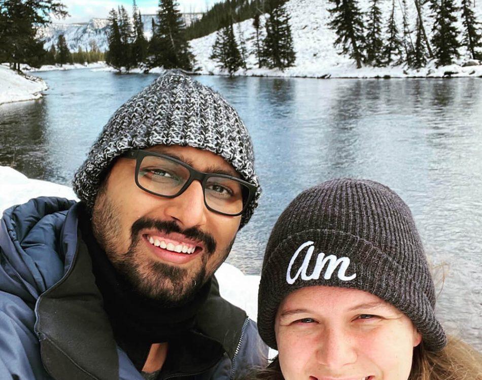 Snow selfie with Amanda