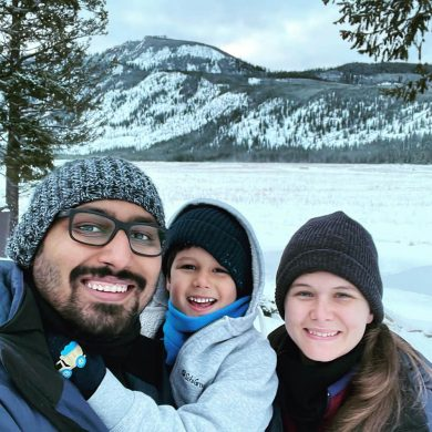 Another family selfie at Yellowstone