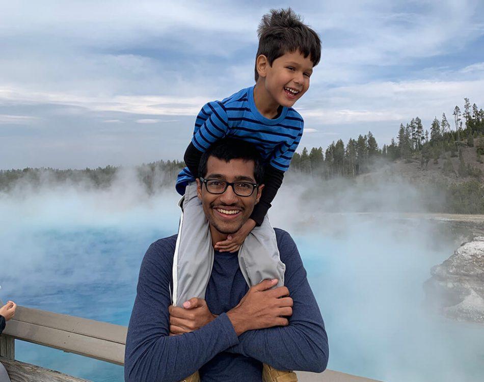 Solomon and Zain at Yellowstone