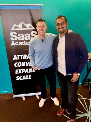 With Dan Martell at his mastermind event SaaS Academy